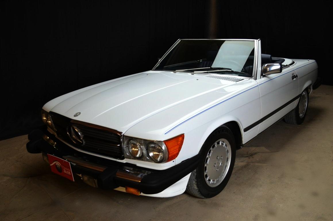 Mercedes 560 SL bianco - ClassicheAuto 1